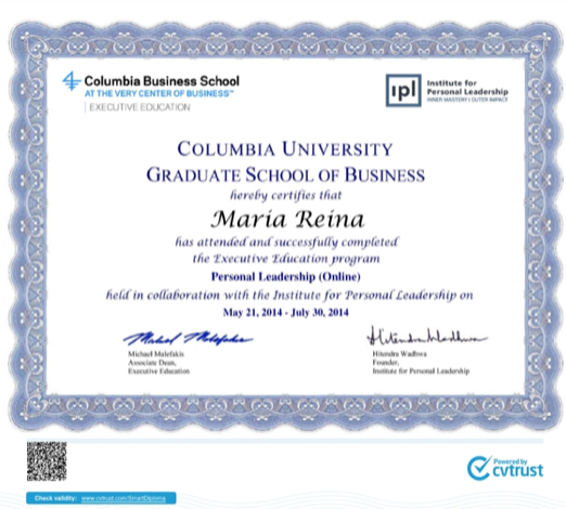 Certificado Columbia