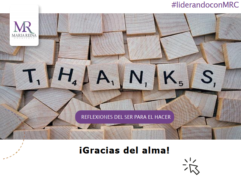 ¡Gracias del alma!